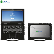 2 Year warranty 14 inch Fully industrial rugged sunlight readable gaming <strong>laptop</strong> with Fingerprint Scanner and with lan port