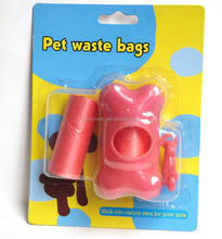 pet cleaning product ,biodegradable dog waste bag/ dog poop bag with dispenser/drawstring dog poop bag