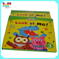 2015 China publication printing full color die cut child book print