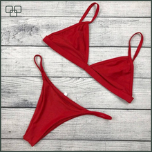 (Trade Assurance)Latest Women Bikini Swimwear, hot sale red bikini
