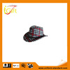 ISO9001 BSCI factory hot sale red fleece tailored made plaid hat