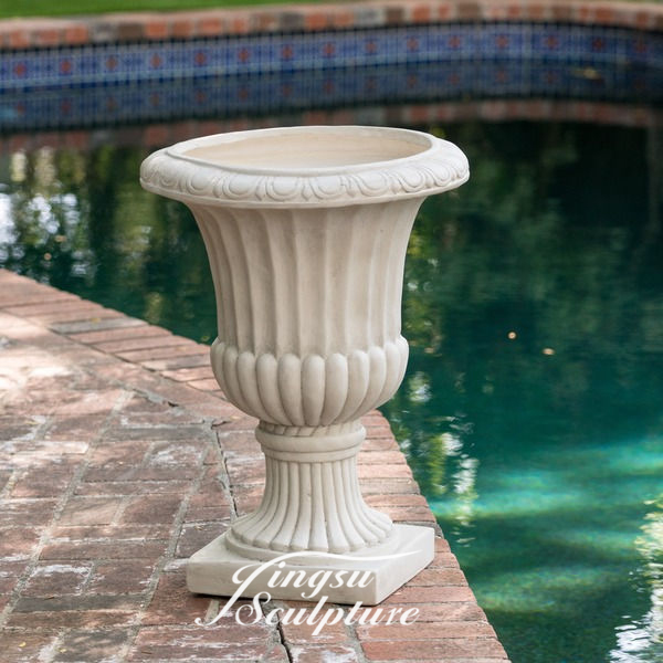 New design beautiful garden flowerpot stone sculpture