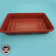 Plastic food container fast food tray