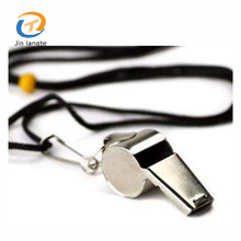 Wholesale cheap stainless steel coach emergency safety metal whistle