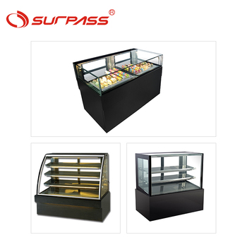 Top quality cake fridge counter showcase bread display cabinet