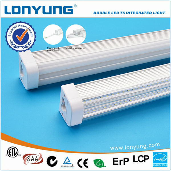 New style LED T5 double tube fluorescent lamp for school room