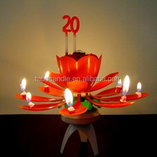 happy birthday electric flower candle