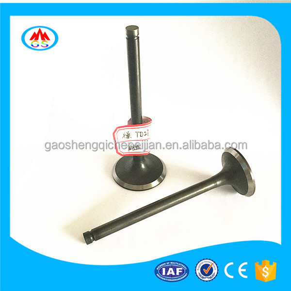 Car parts 21-4N 4Cr10Si2Mo 40Cr material engine valve for Toyota hiace 2kd