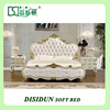 Italy style European classical white and gold colour king size bedroom furniture set