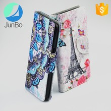 Luxury PU Leather Relief Printing Stereo Feeling Smart Flip Cover Case For Xiaomi Mi5 / Mi 5 Pro Stand Phone Bag
