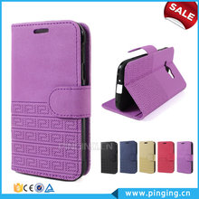 Wholesale Retro Pattern Wallet Stand Design PU Leather Folio Case For Wiko Sunny With Card Slot Case