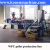 High Quality WPC wooden plastic compound pellets machinery pelletizing line