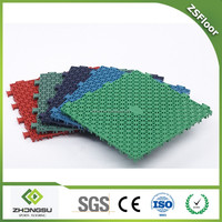 ZSFloor volleyball court plastic sport flooring in tiles