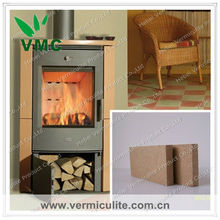 Vermiculite isolation fireplace plate