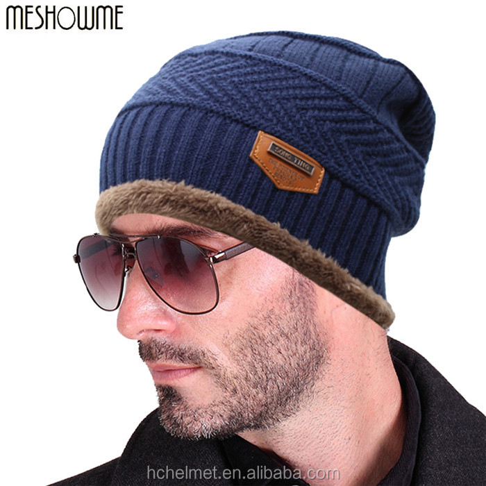 Unisex Womens Mens Camping Hat Winter Beanie Baggy Warm Wool Ski Cap Hot