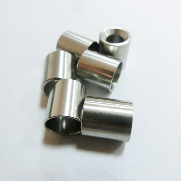 Customized cnc turning 316 stainless steel threaded sleeve