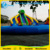 12m diameter Size Inflatable Amusement Park Items of Inflatable land Water Park