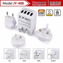 JY-408 China factory wholesale gift items world universal travel power adapter for cell phone charger