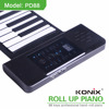 Educational musical instrument usb midi roll up Piano