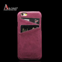 Premium genuine leather card soft phone back case for iphone6