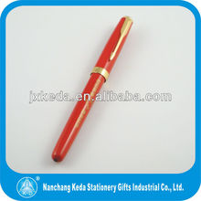Red surface heavy metal metal roller pen with custom logo