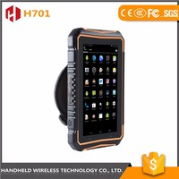 7intch rugged handheld wireless H701 ip 65 android 4.4.2 rfid reader barcode scanner smart pda