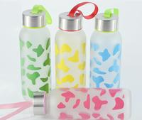 Promotional Mother's Day Gift Wholesale Glass Water Bottle with priting