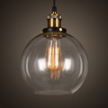 Factory Wholesale Vintage/Clear Glass Pendant Edison Bulb Light For Decoration