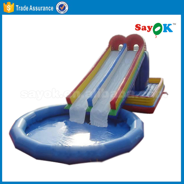 used giant cheap inflatable water park slide for adult