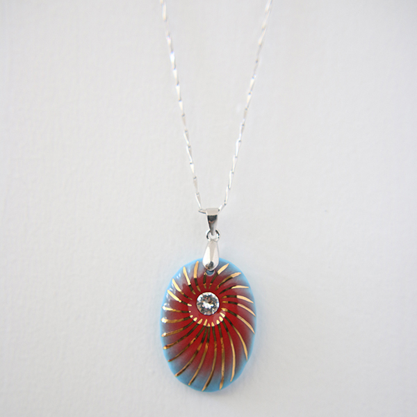 Best Selling Products Wholesale Silver Chain Jewelry Handmade Ceramic Pendant Necklace