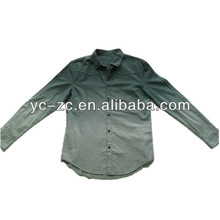 Garment dye color change 2014 men casual fit long sleeve shirt