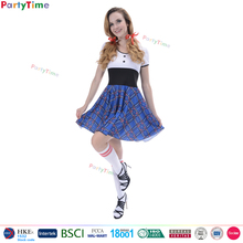 2017 hot sale naughty school girl sexy costume dress easy sexy halloween costumes for women