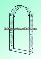 powder coated metal arch gate
