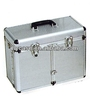 black aluminum case for make up hairdressers with hard handle