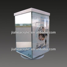 Convenient high quality rotating acrylic glass display case