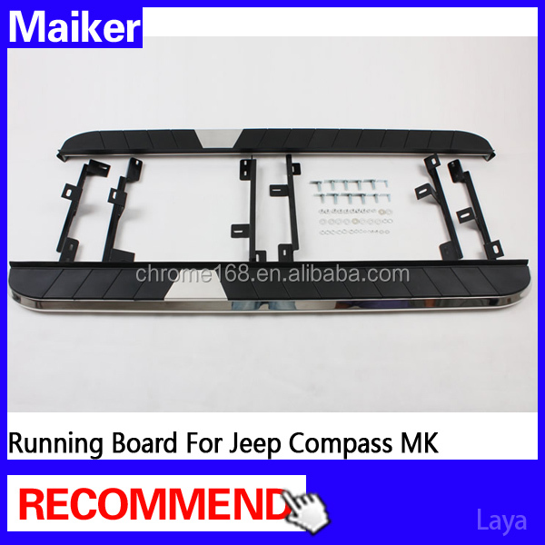 For compass side step for jeep compass running board auto parts from Maiker