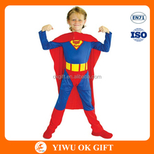 Polyester superman cosplay costume for kids