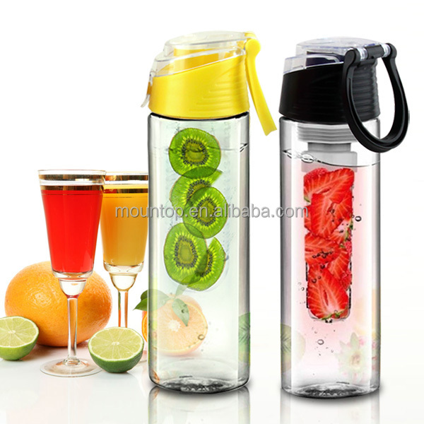 hot sell on amazon infuser sport bottle, plastic water containers, customize and wholesale tritan tumbler