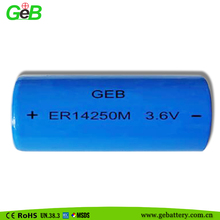 3.6v lithium battery 1/2aa er14250 er14250m battery er14250h battery