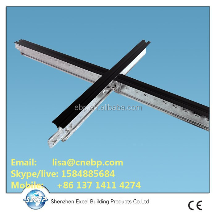 U23 groove T Grid T bar for suspended ceiling system