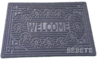 high quality rubber edge polyester thin door mat for entrance use