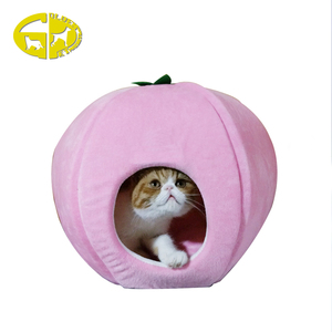 Soft plush covered cute pet cat cave bed nest with factory direct