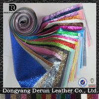 shiny vinyl textil pu leather for shoes raw material for bag making