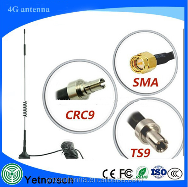 high gain external 4G LTE antenna with magnetic base and 600 2700 MHz frequency