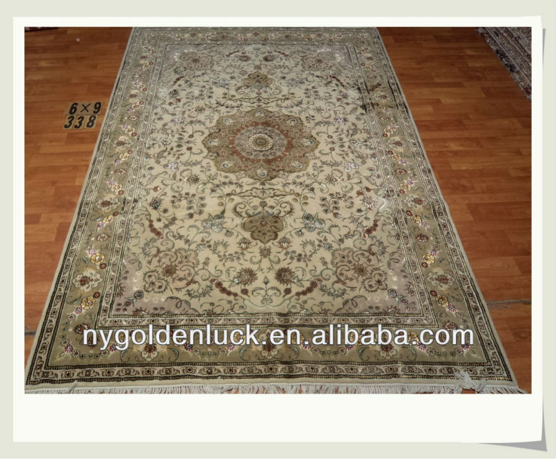6x9ft Chinese Hand woven wool & silk blend persian carpets