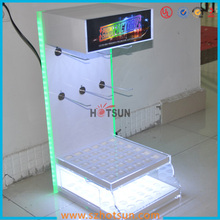 2015 new products made in china LED acrylic floor stand display for mobile phones accessories