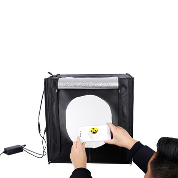 E-Reise photo box Portable 40cm 50cm 60cm 70cm 80cm photography photo studio soft led light box for photography