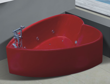 AD-649 China manufacturer free standing acrylic massage heart shaped bathtub hot tub price