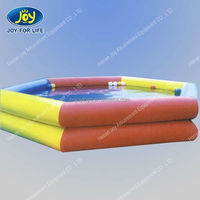 Double layer colorful inflatable pool rental