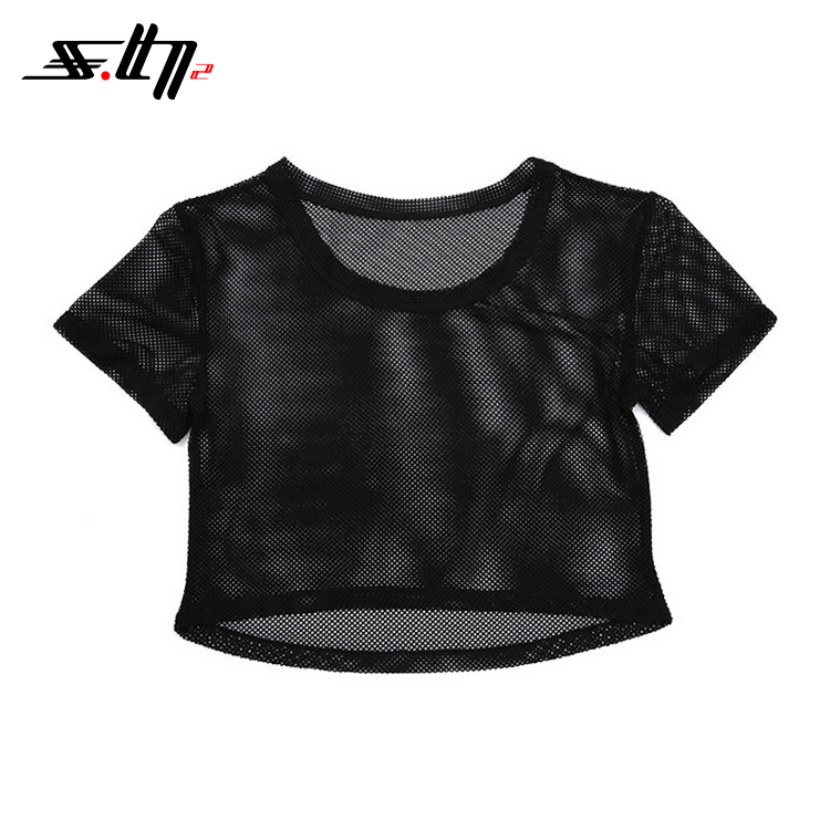 China Manufacturer Apparel Premium Women Yoga Tank Tops With R-Neck In Mesh Material Hot And Sexy